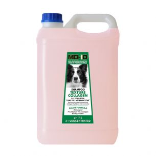 MD10 Texture Collagen Shampoo - 5 Litre  (20 Litre Diluted) Bearded Collie, Border Collie, Lhasa Apso, Tibetan Terrier, Briard, Wire hair Dachshund